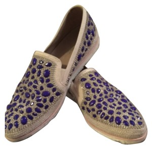 Donald J. Pliner Blue/cream Flats