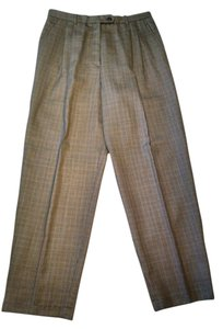 Rafaella Relaxed Pants Brown, black, and rust plaid