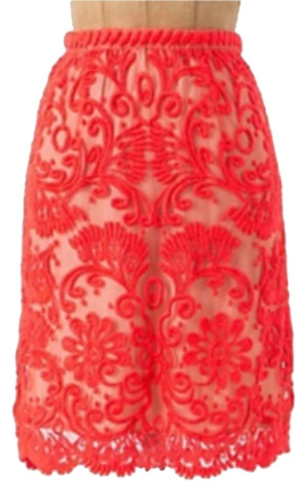 428198d9fd658a Yoana Baraschi Red/Pink 24691487 Skirt Size 6 (S, 28) - Tradesy