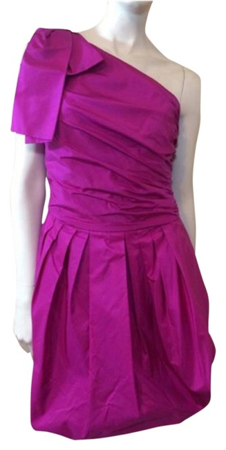 Preload https://img-static.tradesy.com/item/12908503/robert-rodriguez-fuchsia-one-shoulder-short-night-out-dress-size-2-xs-0-1-650-650.jpg