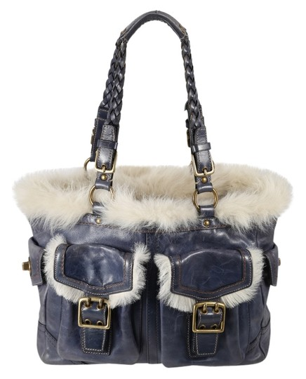 Preload https://img-static.tradesy.com/item/12908521/coach-shearling-double-pocket-gallery-tote-blue-leather-shoulder-bag-0-1-540-540.jpg