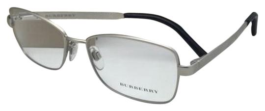 Preload https://item4.tradesy.com/images/burberry-b-1259-q-1159-54-16-matte-silver-frame-w-black-leather-new-eyeglasses-w-12908593-0-1.jpg?width=440&height=440