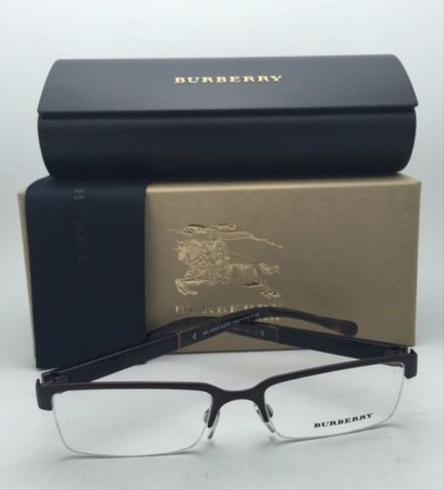 Burberry New BURBERRY Eyeglasses B 1267 1012 52-17 Semi-Rimless Matte Brown Frames
