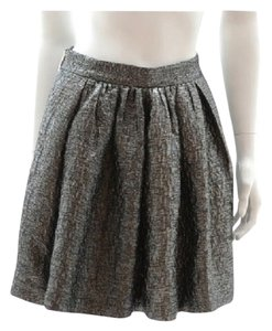 Kate Spade Mini Metallic Mini Skirt Metallic Silver