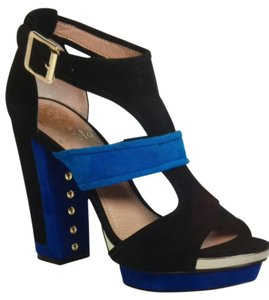 Vince Camuto Black/Blue Platforms