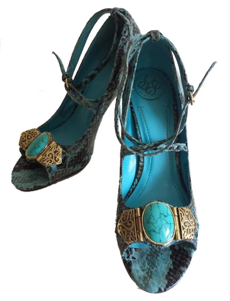 womens Pumps BCBGMAXAZRIA Turquoise Pumps womens The highest quality material 955bb0