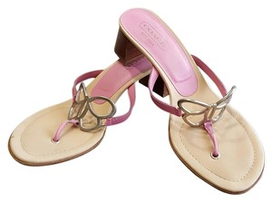 Coach Leather Leather Amara Amara Calf Leather Pink Sandals