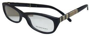 Burberry New BURBERRY Eyeglasses B 2167 3001 54-16 Black Frame w/Plaid Temples