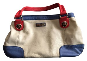 Kate Spade Organized Pockets Satchel in Cream, Blue, Orange