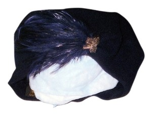 A. Brod Wool Beret with feather & pin