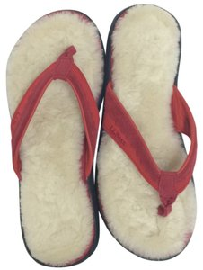 L.L.Bean Red leather straps. Sandals