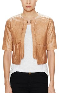 J Brand Leather Spring Blazer Tan Camel Caramel Leather Jacket