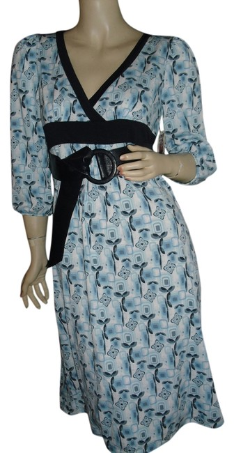 Preload https://item1.tradesy.com/images/blue-and-black-wrap-leatherette-belt-knee-length-workoffice-dress-size-10-m-12910075-0-1.jpg?width=400&height=650