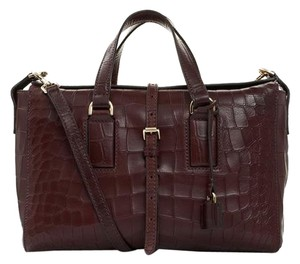 Mulberry Crocodile Sell Satchel in brown
