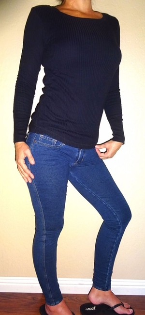 Abercrombie & Fitch Jegging Leggings Style Sexy Shoechic30 Love Date Fashion Fashionista Tan Model Skinny Pants Blue Jean denim