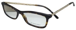 Burberry New BURBERRY Eyeglasses B 2190 3002 54-15 Tortoise Brown & Gold Frames w/ Clear