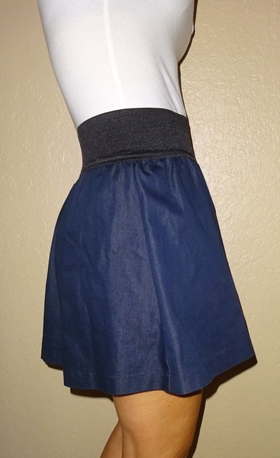 Miley Cyrus & Max Azria Dress Cotton Love Sexy Style Teen Dorm Shoechic30 Kardashian Fahsion Fashionista Love Skirt Blue jean navy denim Image 3