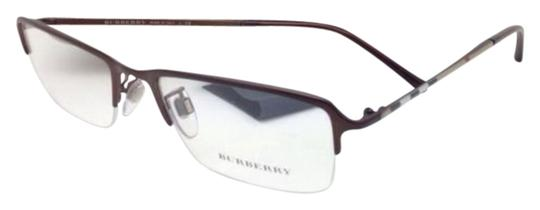 Burberry New BURBERRY Eyeglasses B 1257 1012 53-18 140 Semi-Rimless Brown Frames