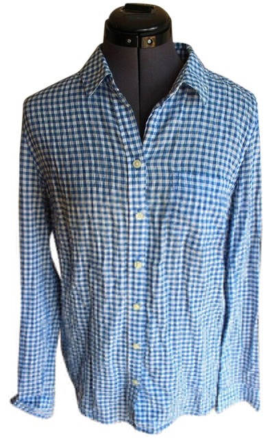Old Navy Checkered Button Down Shirt Blue