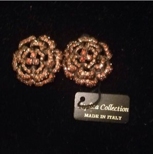 Replica Collection Rhinestone Earrings Clip ons