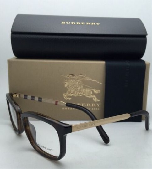 Burberry New BURBERRY Eyeglasses B 2160-Q 3002 52-18 140 Tortoise Brown & Gold Frames