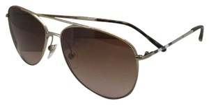 Burberry New BURBERRY Sunglasses B 3072 1145/13 57-14 Gold Aviator Frame w/Brown Gradient Lenses