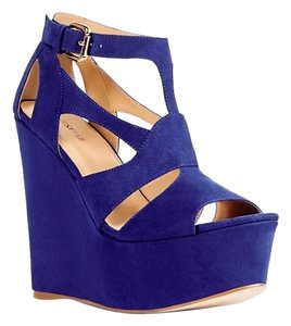 JustFab Blue Wedges