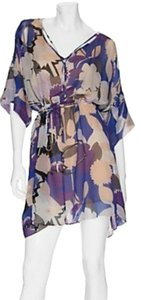 Diane von Furstenberg short dress Purple Floral Dvf Silk on Tradesy