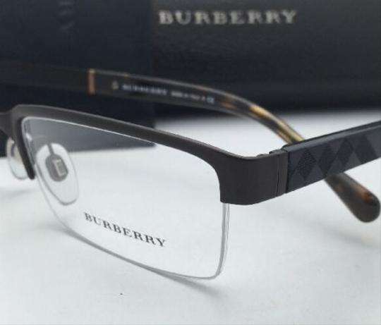 Burberry New BURBERRY Eyeglasses B 1267 1012 55-17 Semi-Rimless Matte Brown Frame w/Clear