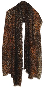 Leopard print wrinkled crosspiece Scarf A506132