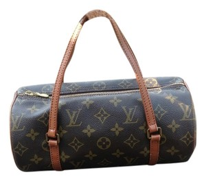 Louis Vuitton Papillon Vintage Satchel in Brown