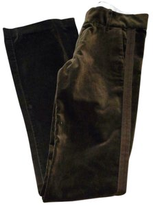 Juicy Couture Velvet Tuxedo Trouser Pants Olive Green