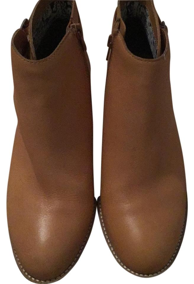 WOMENS Lucky Most Brand Camel Leather Boots/Booties Most Lucky practical 950058