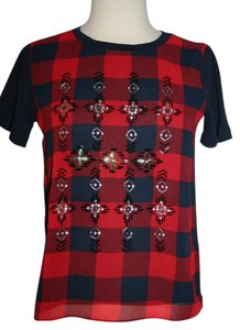 J.Crew T Shirt Navy Red