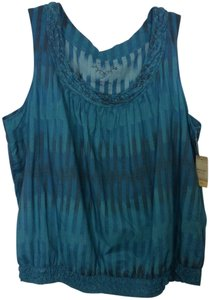 Sonoma Top Blue printed 2x