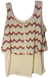 Belle du Jour Top Off-white/Eggshell Cropped top style with Print 2x