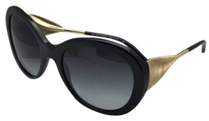 Burberry New BURBERRY Sunglasses B 4191 3001/8G 57-21 Black & Gold Frame w/Grey Gradient Lenses