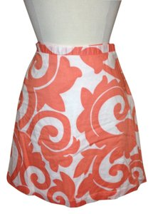 J.Crew Coral Size 2 Skirt White Coral