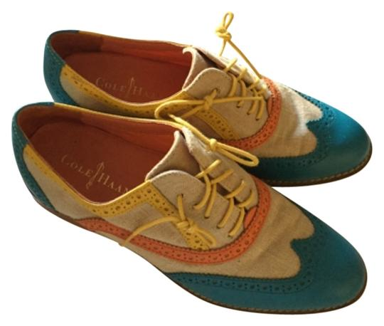 Preload https://item4.tradesy.com/images/cole-haan-teal-orange-and-off-white-flats-size-us-7-regular-m-b-12911818-0-1.jpg?width=440&height=440