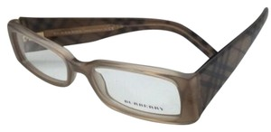 Burberry New BURBERRY Eyeglasses B 2080 3166 50-16 Beige Frame w/Striped Beige Temples
