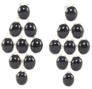 Ippolita IPPOLITA .925 Sterling Silver Black Onyx Long Dangle Post Cascade Earrings