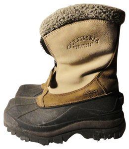 Columbia Winter Snow Warm Waterproof Beige & Brown Boots