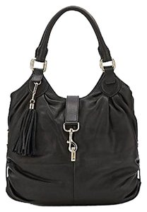 Saks Fifth Avenue Leather Gold Hardware Tote in Black