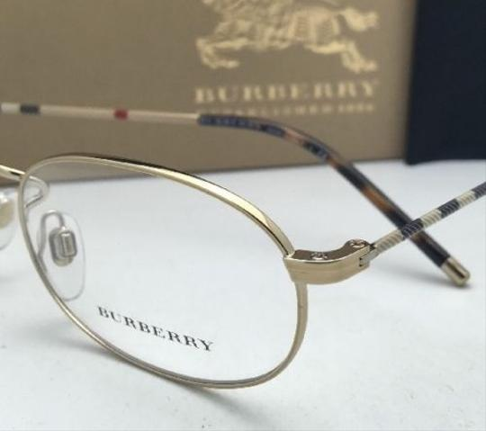 Burberry New BURBERRY Eyeglasses B 1273 1145 52-19 135 Gold Plaid & Tortoise Frames