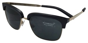 Burberry New BURBERRY Sunglasses B 4154-Q 3001/87 55-17 Black & Gold Frame w/ Grey Lenses