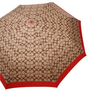 Coach Signature Print Umbrella