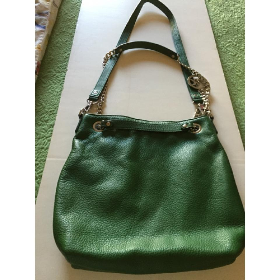 766b523a97e3 Brand-new MICHAEL Michael Kors Mk Green Kid Leather Cross Body Bag -  Tradesy PH32