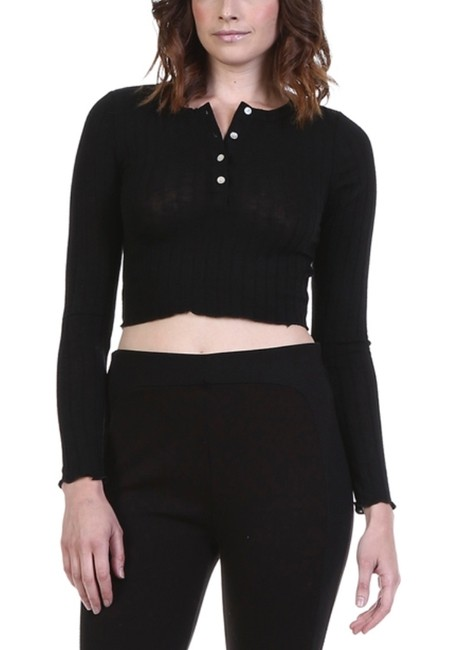 Preload https://img-static.tradesy.com/item/12912895/honey-punch-black-crop-sweater-night-out-top-size-4-s-0-1-650-650.jpg