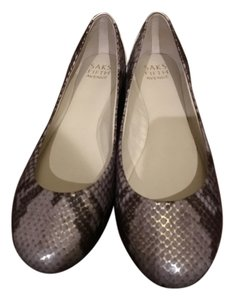 Saks Fifth Avenue Snakeskin Flats