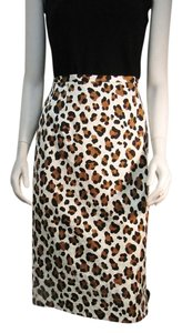 Michael Kors Cheetah Lined Straight Pencil Business Attire Size 8 8 Skirt Animal print